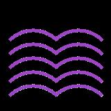 purple ripple icon
